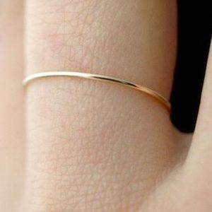 Jewelry - 14k Real Gold Thin Stackable Band sz 3 4 5 6 7 8 9